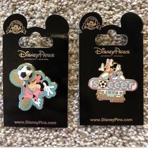 Minnie Mouse Soccer Princess Disneyland Resort Pin